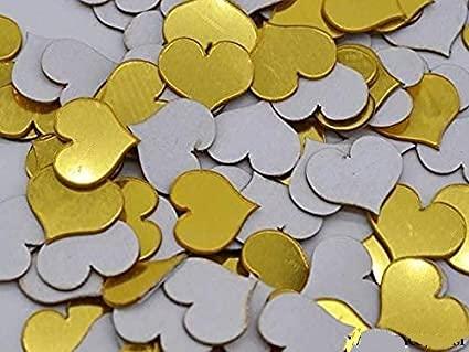 SoulSpaze Adesivi da Parete a Specchio 3D Fai da Te, in Acrilico, a Forma di Cuore/Rotondo, Effetto Mosaico, Confezione da 100 Pezzi, 2 cm