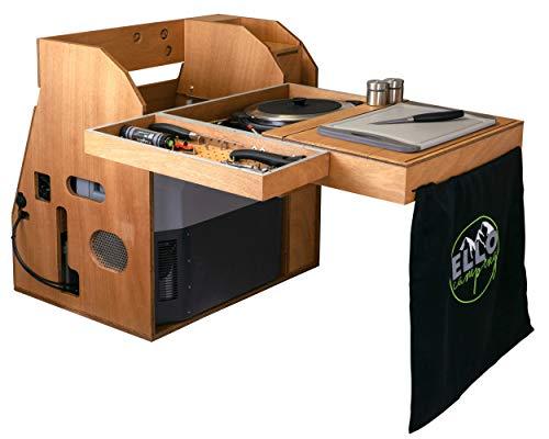 ElloFree XS - CmapingBox für Auto - mit Batteriemanagementsystem - fließend Wasser, 2X Gas-Kochfeld, Camping Kühlbox