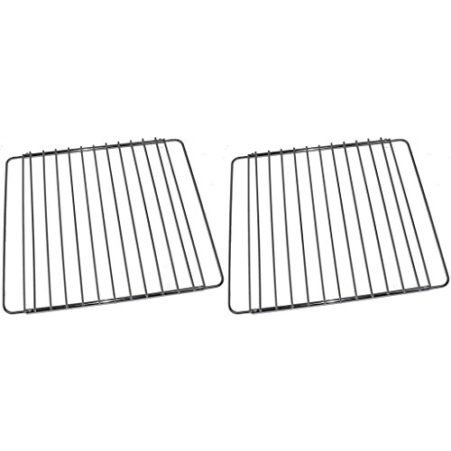 2 x Universal Chrome Adjustable Fixed Arm Grill Shelf for All Oven Cooker & Grill (310mm x 360 / 590mm) by Yourspares