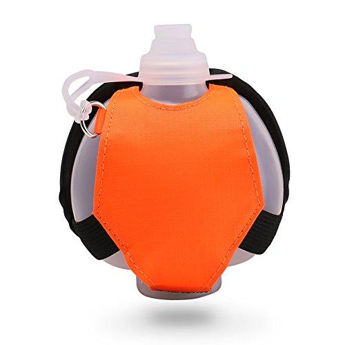 Eyourlife Bottiglia Acqua Polso per la Corsa Jogging Yoga Fitness e Marsupio Sportivo per Allenamento Privo di BPA 250ml Isolante della Borraccia Colore Arancione