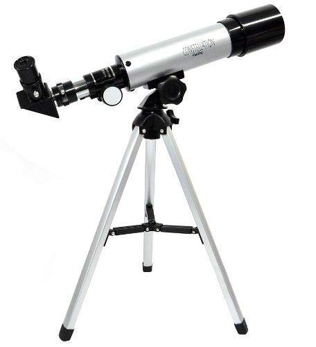 Smitex Telescope for Kids, Astronomical Zoom 90X HD Outdoor Educational with Tripod 360/50mm Spotting Scope Kids Beginners, Professional Landscape Tripod, 2 Magnification Eyepieces, 1.5X Lens