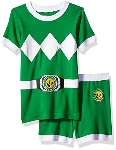 Power Rangers Boys' Toddler Green Mighty Morphin Pajama Short Set, 2T