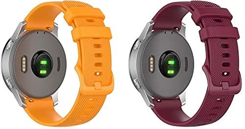 Gransho compatível com Nokia Acero HR/Activité Steel Pulseira de Relógio, Pulseiras de Reposição de Silicone Macio (18mm, Pattern 6+Pattern 9)