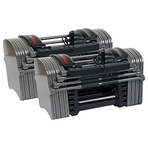 Power Block Hantel 2.4, Verstellbare Kurzhantel, Powerblock, 1,5 - 22,5 kg, Paar