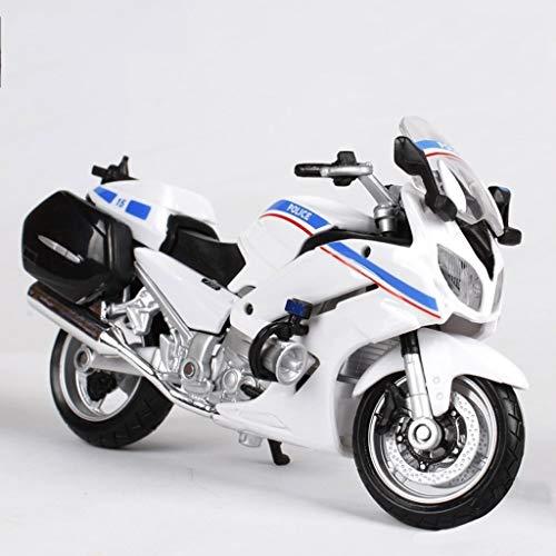 JBlaite-Model car Anteil 01.18 Die Casting-Motorrad-Modell-Legierung Modell Motorrad Racing Kollektion Anzeigen-Geschenk-Dekoration Modell Motorrad (Color : White, Size : 12cm*4.5cm*7.5cm)