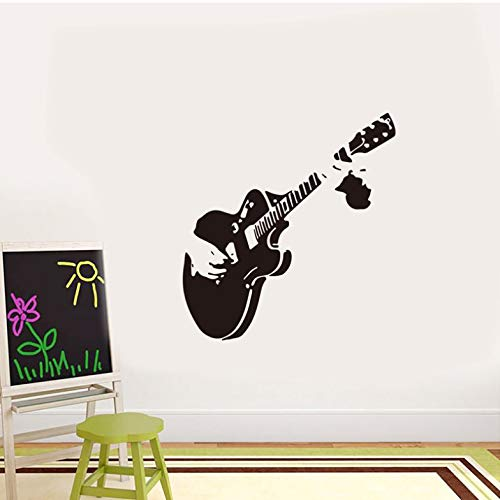 Musikgitarre Wandaufkleber Wohnzimmer Musikzimmer Restaurant Vitrine für Hauptdekoration Wandkunst Aufkleber geschnitzte Aufkleber