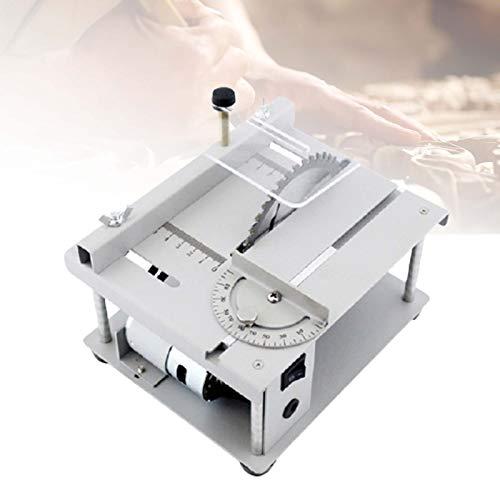 ZPCSAWA Sierra de Mesa Profesional, Sierra de Pulido eléctrica, Kit de Corte, Pulido y Grabado, 150 W, para DIY Model Crafts Herramienta de Corte
