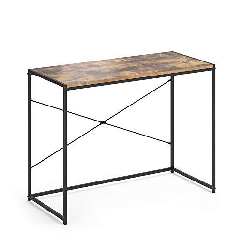 Vicco Loft Schreibtisch Fyrk Bürotisch Arbeitstisch PC Tisch 100 x 45 cm (Antikholz-Optik)