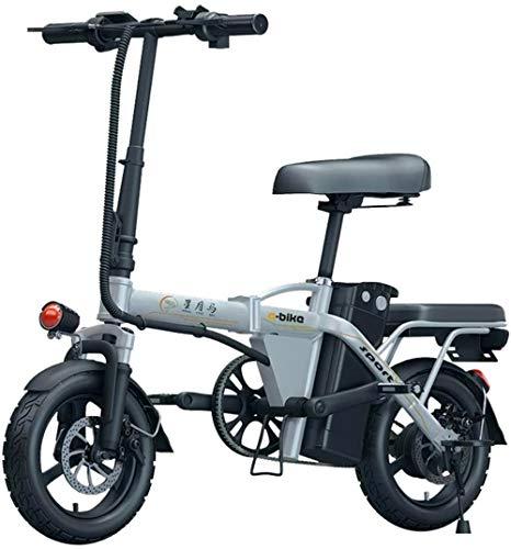 Elettrica Bici elettrica Mountain Bike Adulti Bici elettrica, Folda blke 14 Pollici 48V E-Bike con 6Ah-36Ah Batteria al Litio, Città Biciclette velocità Massima 25 km/h, Freno a Disco per i sentieri