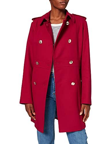 Tommy Hilfiger Damen Madison Coat Mantel, Violett (Beet Red 840), 40(Herstellergröße:10)