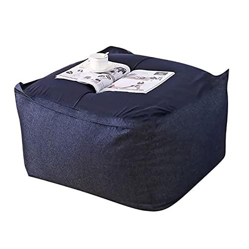 BUYYUB Lazy Bean Bolsa Cubierta (sin Relleno) Ropa De Cama Reclinable Sala De Estar Decoración para El Hogar Decoración Removible para Niños Adultos (Color : 01)