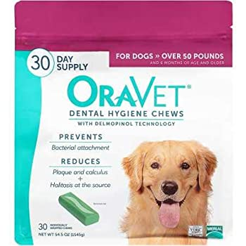 Merial Oravet Dental Hygiene Chew for Large Dogs  50 lbs and over  Dental Treats for Dogs 30 Count