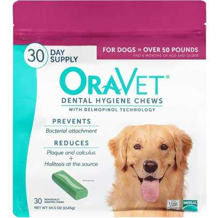 Frontline OraVet Dental Hygiene Chews Large Over 50 lbs (30 Count)