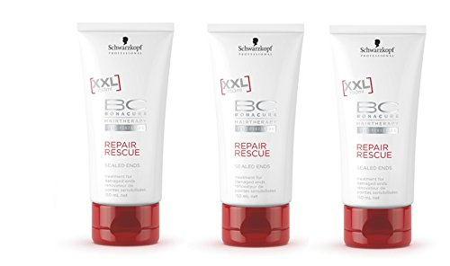 Schwarzkopf - BC Peptide Repair Rescue Sealed Ends treatment Triple Pack (3 x 150ml)
