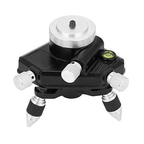 """Treppiede mobile a standard 360 °, Supporto girevole regolabile per livello laser, Base di sintonia fine a livello 360 °(1/8\"""" Thread)"""