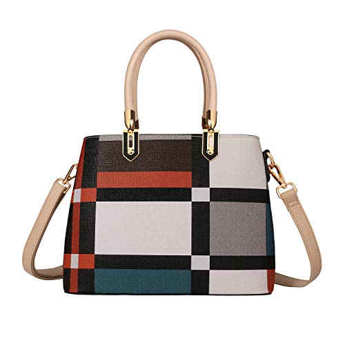 TIBES Handbags for Women Ladies Tote Shoulder Bags Satchel Top Handle Satchel Purse in Pretty Color Combination
