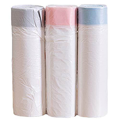 3 Rollos/Set De Lazo Bolsas De Basura Portátil Bolsa De Basura Basura De La Basura De La Papelera Suministros para Oficina Cocina Sala De Coches (Colores Aleatorios)