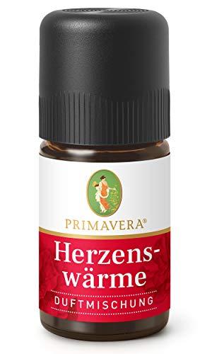 PRIMAVERA Herzenswärme Duftmischung 5 ml - Rose, Vanille und Sandelholz - Aromaöl, Duftöl, ätherisches Öl Aromatherapie - harmonisierend - vegan