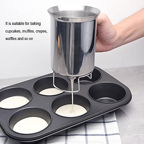 800ml Stainless Steel Pancake Cupcake Batter Dispenser Tool Cream Speratator Cup Cookie Cake Waffles Batter Dispenser cookie separator batter (Batter Dispenser)