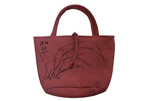 Liu - Tea & Art - Bolso de tela de Lana para mujer rosa