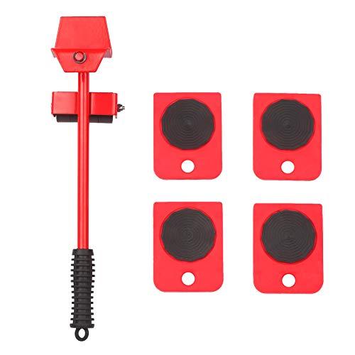 Kshzmoto Kit de Movimiento de Muebles Pesados Easy Mover Appliance Roller Lifter Sistema de Movimiento con Deslizadores de 4 Ruedas Kit de elevación para Mover Mesa de Armario de sofá Cabeza ajustabl