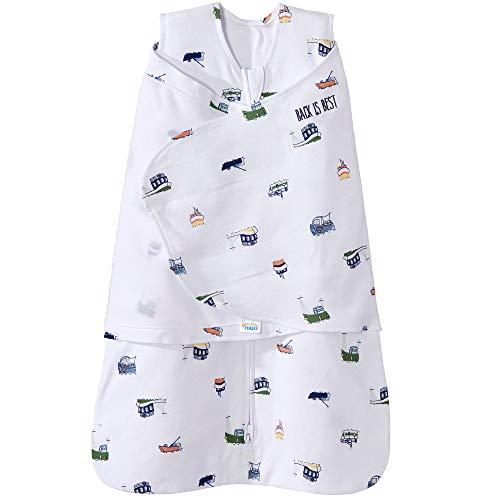 Halo 100% Cotton Sleepsack Swaddle Wearable Blanket, Nautical Tug Boats, Small