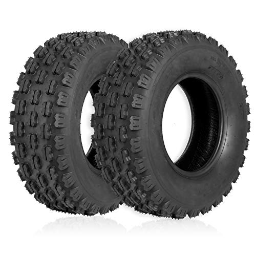"Weize Set of 2 ATV Tires 21X7-10, 4 Ply, Sport Front UTV Tire 21-7-10 21x7x10, Fit All 10"" Rims"