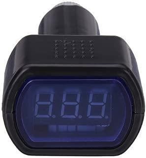 Zeltauto LED Digital Car Voltmeter 12V/24V Vehicle Voltage Gauge Monitor for Auto Car Truck