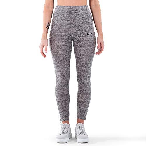 SMILODOX Leggings Young Night para mujer, para deporte, fitness, gimnasio, entrenamiento y tiempo libre, pantalones de deporte antracita L