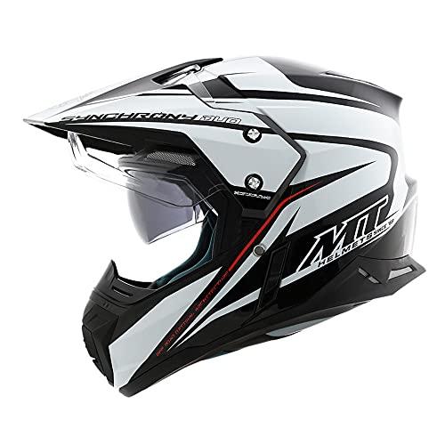 モトクロス オフロード ヘルメット オフロードヘルメット ダブルシールド 超軽量 helmet 現行モデル デュアルスポーツ 対応 耐衝撃性 男女兼用 人気商品 多色可選 (A1, L)
