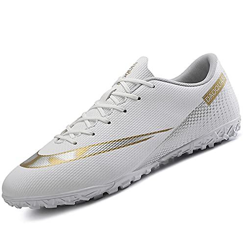 VTASQ Zapatos de fútbol para niños Entrenamiento al Aire Libre Zapatos de fútbol Ligeros Resistentes al Desgaste para Adolescentes Zapatos de fútbol de Verano Primavera para niños Blanco 32 EU