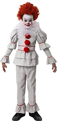 D Y S M A D Gojoy Shop- Disfraz de Payaso Asesino para Niño para Halloween, (Contiene Camiseta, Pantalón y Cuello,4 Tallas) (5-6 años)