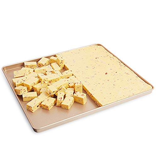 CANDeal 12 inch Non Stick Heavy-gauge Steel Cookie Sheet/Bread Cake Tray/Nougat Candy Tin/Roasting Pan