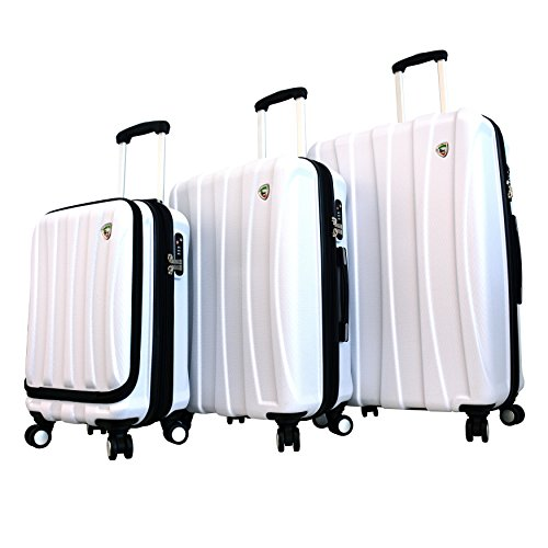 Mia Toro Luggage Tasca Fusion Hardside Spinner Luggage 3pc Set Wht, White