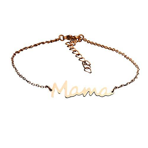 YLYL Bijoux Cadeau Personnalissable Fille Amour Saint Valentin NoëL FêTe MèRes Bracelet D'Amour Femme RéGlable Bijoux Femme Cadeau Femme Anniversaire FêTe Des MèRes Cadeau Maman