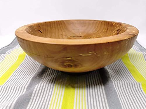 Holzschale rund aus gestocktem Apfelholz ∅ ca. 24 cm - Höhe ca. 10 cm handgemacht gedrechselt Schale Obstschale