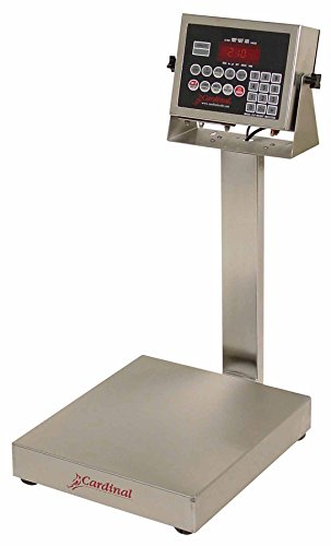"Detecto EB-60-210 Bench Scale, Electronic, 60 lb. Capacity, Stainless Steel, 210 Indicator, 16"" x 14"""