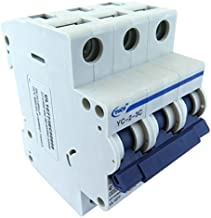 Yuco YC-2-3C Supplemental Protector Din Rail Miniature Circuit Breaker 3P 2A C Curve TUV UL 1077 European Design CSA C22.2