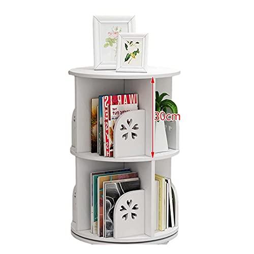 JKYP Bibliothèque rotative à 360 degrés multifonctionnelle pour enfants, étagère d'angle pour la maison, le...