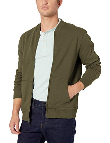 Amazon Brand - Goodthreads Men's Fleece Bomber, Olive XX-Large