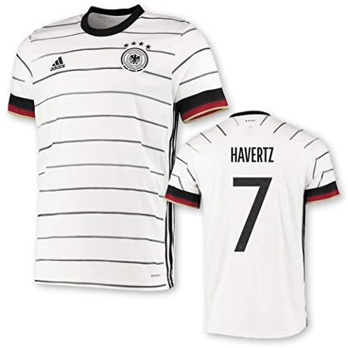 adidas DFB Deutschland Trikot Home EM 2020 Kinder inkl. Original Flock (Havertz + 7, 176)