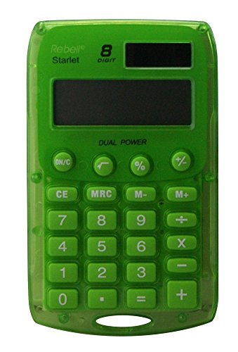 Rebell RE-STARLET G rekenmachine, Dual Power 8-cijferiger, groen