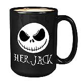 N\A Tazza da caffè di Halloween - Her Jack - Strega Mago Zucca Raccapricciante Teschio Mostro Spaventoso Nightmare Before Christmas Zombie Dolcetto o Scherzetto Sally Skellington