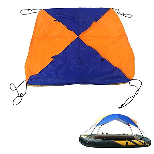 Gorge-buy Inflatable Kayak Awning Canopy,3-Person 295×137×43cm Foldable Sailboat Awning Top Cover,PVC Rubber Rain Boat Canopy Fishing Camping Sun Shade Shelter Kit