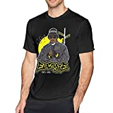 EA-Z-Y E Men's Round Neck T-Shirt Short Sleeve Top Pure Cotton T-Shirt Pullover Camisetas y Tops(Large)