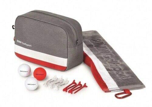BMW Original Golfsport Geschenk Set Golftasche 6 Bälle 6 Tees 3 Golfbälle