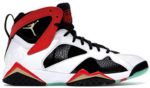 Nike Air Jordan 7 Retro GC, Scarpe da Basket Uomo, White/Chile Red-Black-Mtlc Gold, 49.5 EU