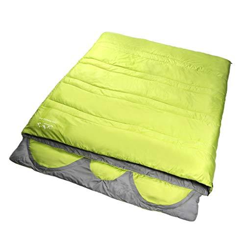 CATRP-Sac de couchage pour 3 Personnes Design monopièce Adulte Quatre Saisons Grand Épaissir Garder au Chaud (Color : Green)
