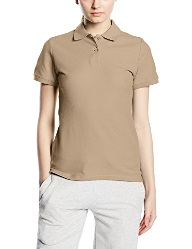 Fruit of the Loom,Premium Polo Donna, Beige, Large