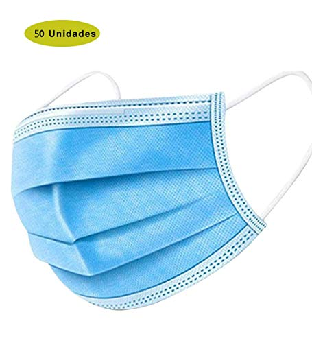 Disposable Three Layer Spray cloth Respirator face m***as***k blue -300pcs